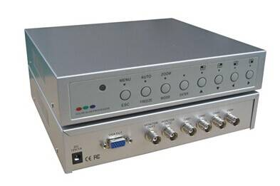 Innovision 2ch,4ch,6ch color Quad System /processor with VGA output