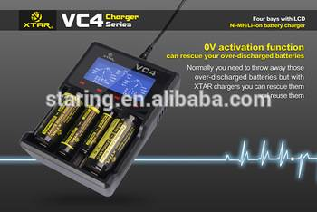 XTAR VC4 LCD Screen USB Battery Charger 18650 26650 32650 14500 AA AAA Battery in Consumer
