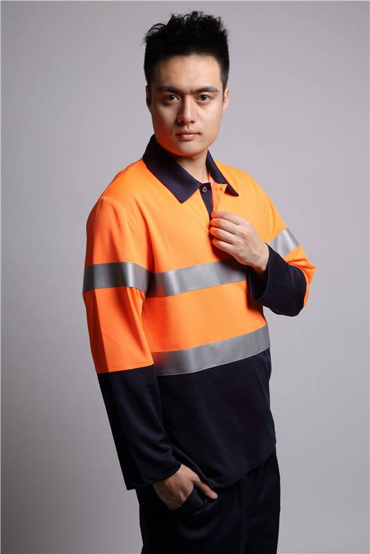 factory price hi vis orange workwear shirt