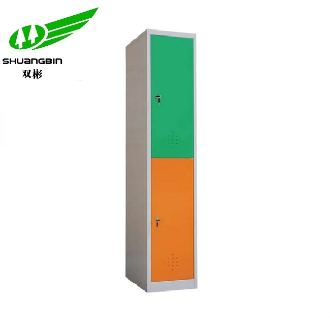 Hot sale high quality colorful 2 door metal wardrobe locker