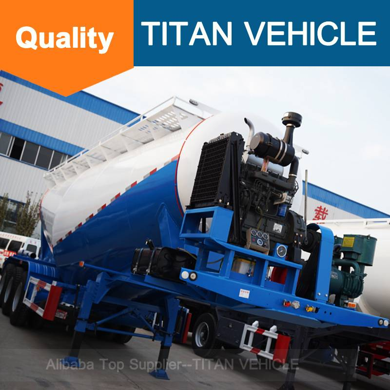 Titan Vehicle cimc cement bulker trailer V Type Cement Semi Trailer