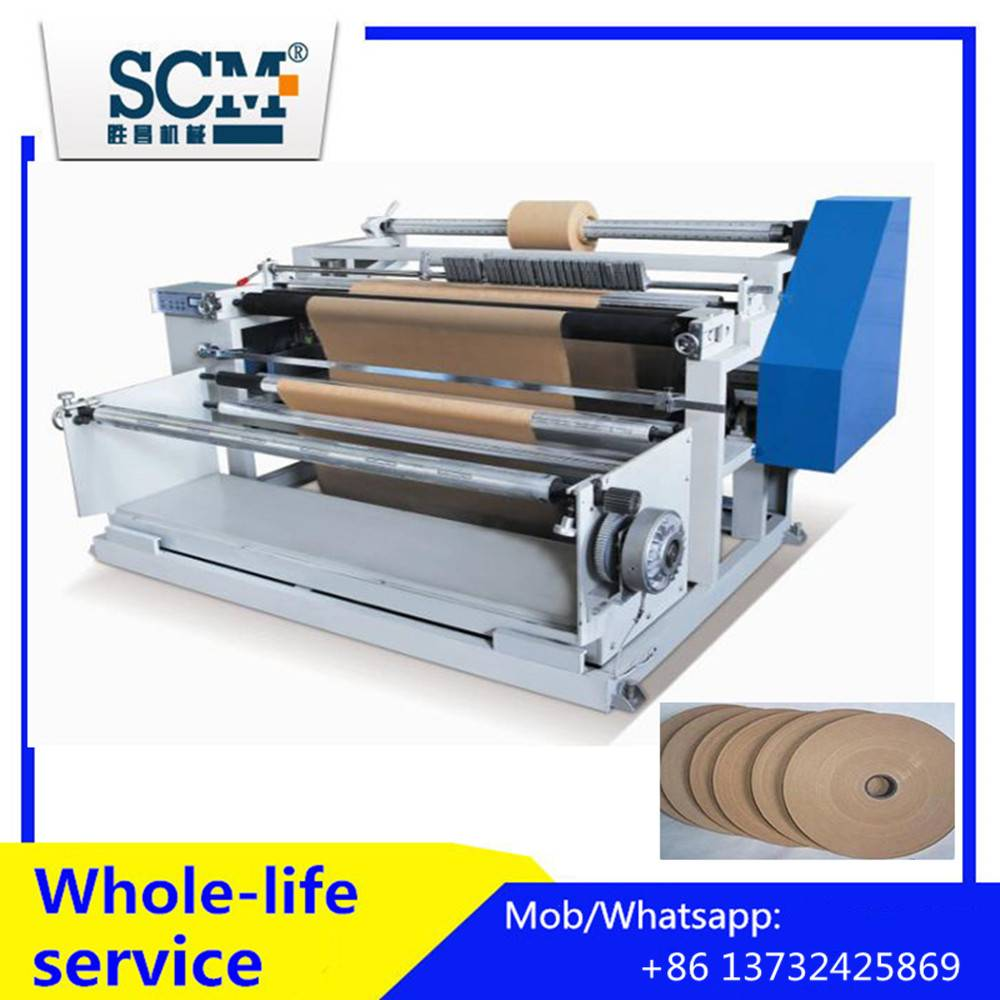 Kraft paper roll rewinding cutting machine