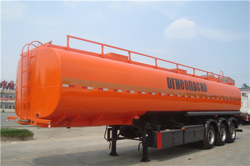 3 Axles 50 CBM Carbon Steel Fuel Tanker Trailer