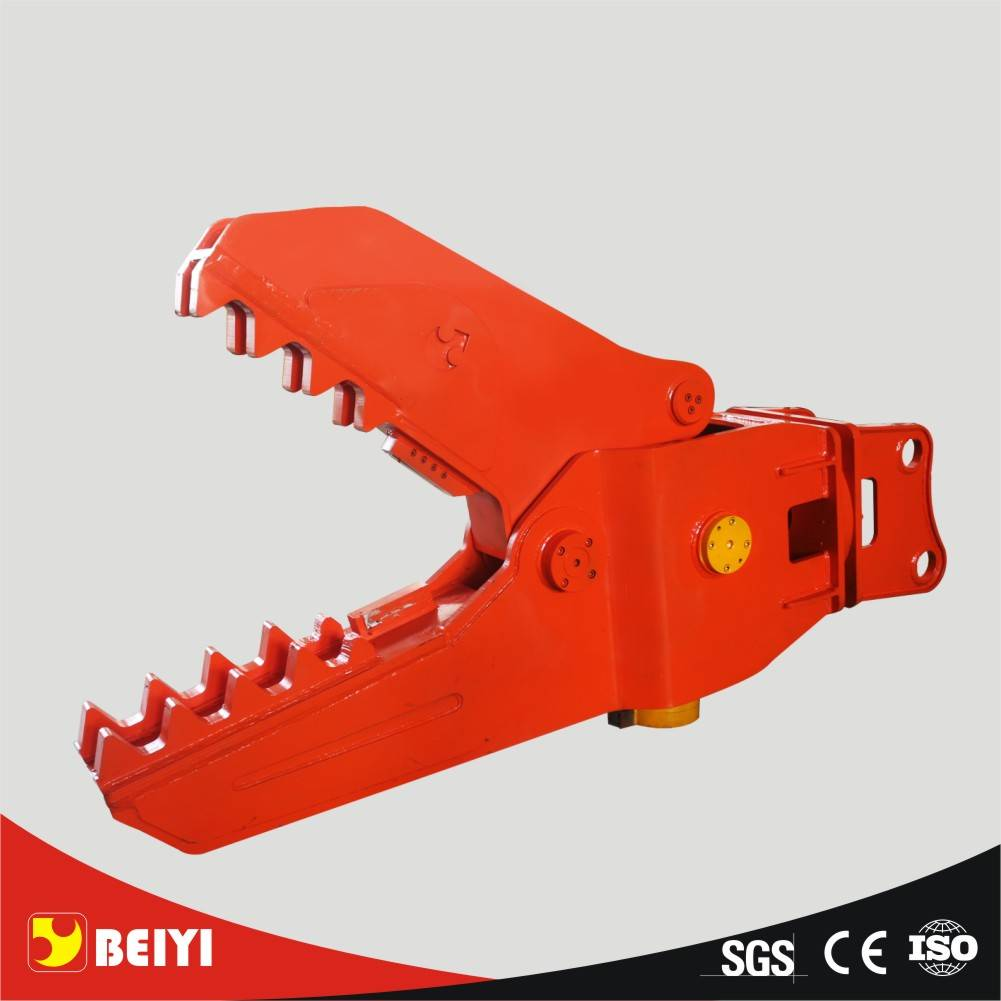 New type with big opening size rotary/fixed Beiyi excavator hydraulic concrete crusher for construct