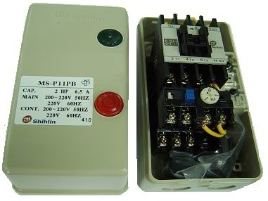 Contactor Starter With Enclosure & Push Button