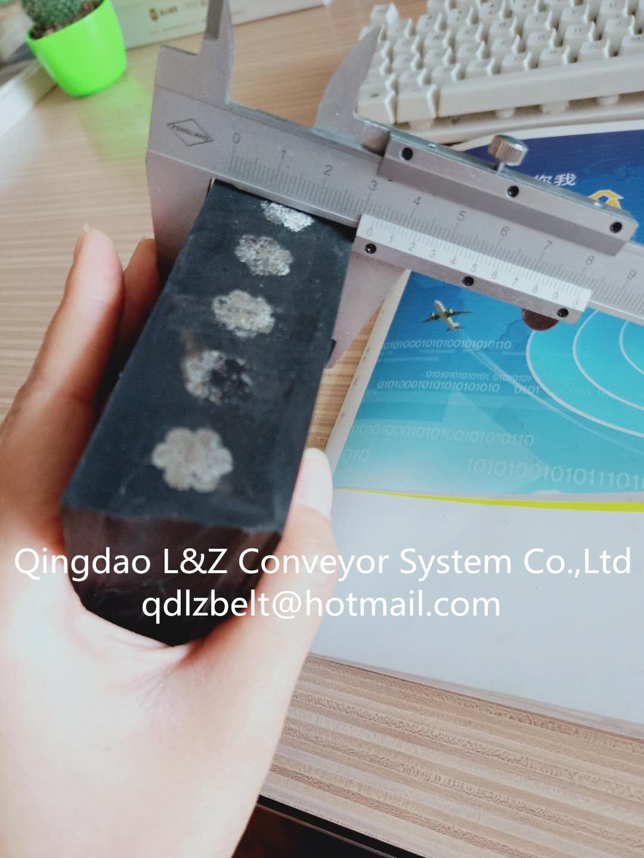 Heat resistant steel cord rubber conveyor belt