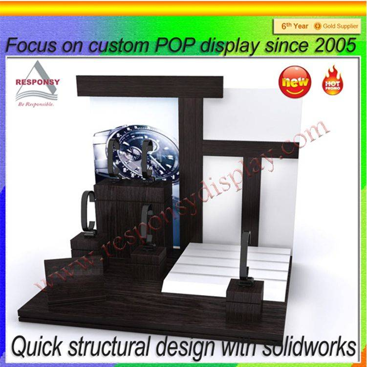 Customized desk top wholesale wrist watch display stand