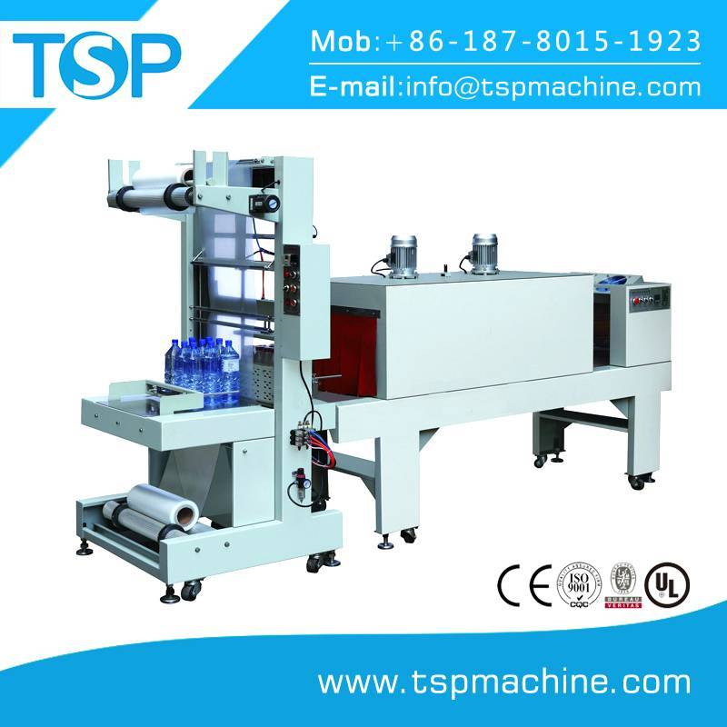 Semi automatic sleeve wrapping shrink packing machine