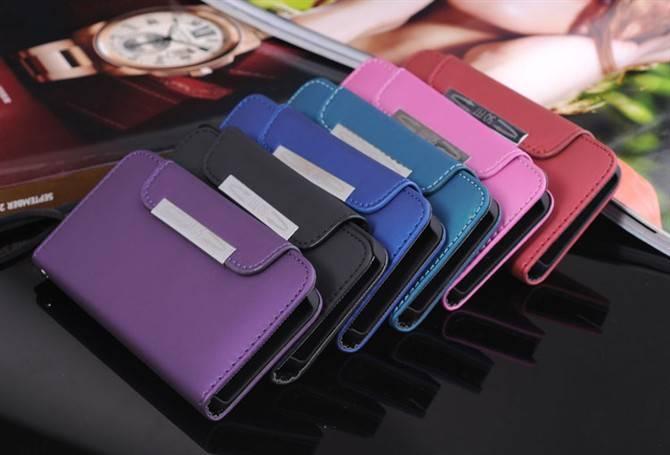 Matt Wallet with Hand Strap Pattern Case for iPhone 5G/5S Dark Blue USD2.60/PCS