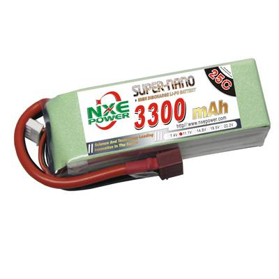 NXE3300mAh-25C-11.1V Softcase RC Helicopter Battery