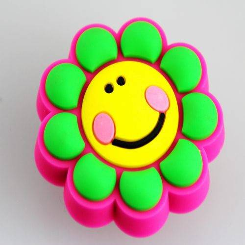pvc silicon flower shape fridge magnet OEM ODM