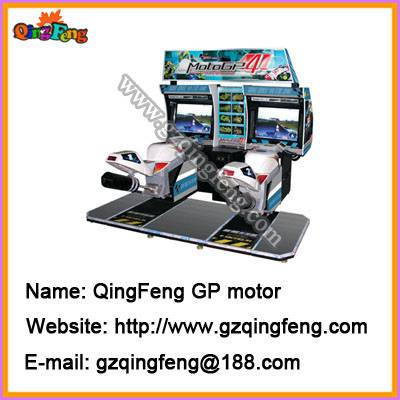 Simulator racing game machines