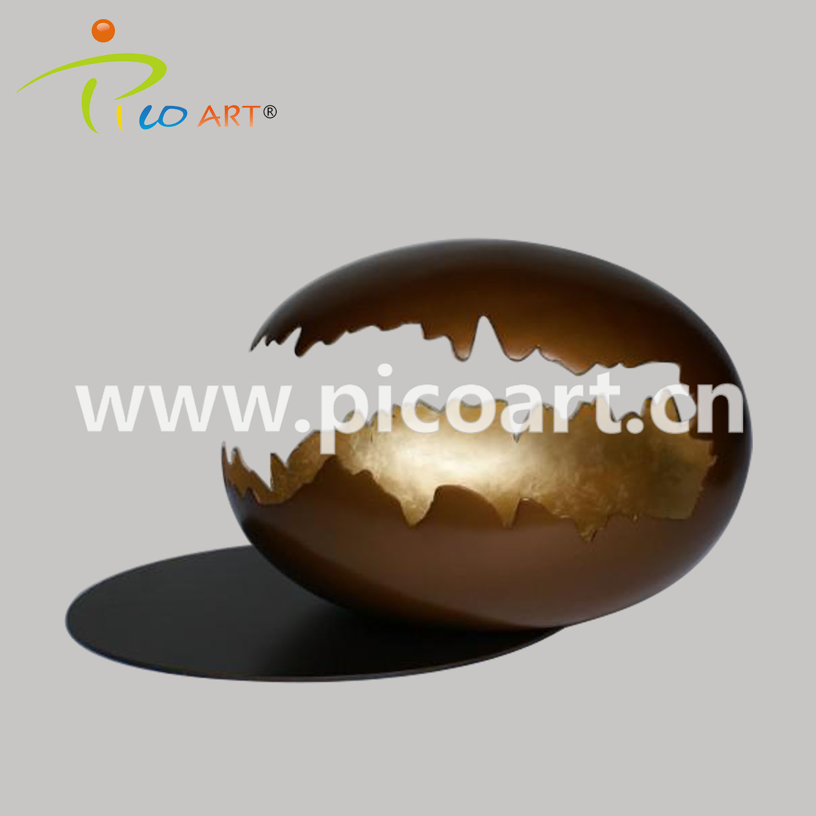 Handmade Eggshell Abstract Modern Craft Sculpture for Home Decoration