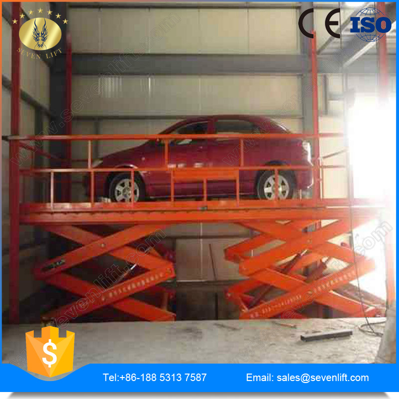 7LSJC Shandong SevenLift 3.5T hydraulic garage inground Alignment Scissor car Lift