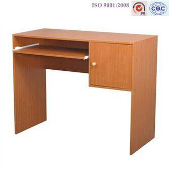 Wooden Corner Computer Desk with Drawer