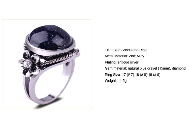 Blue Sandstone Ring /CT-R0006