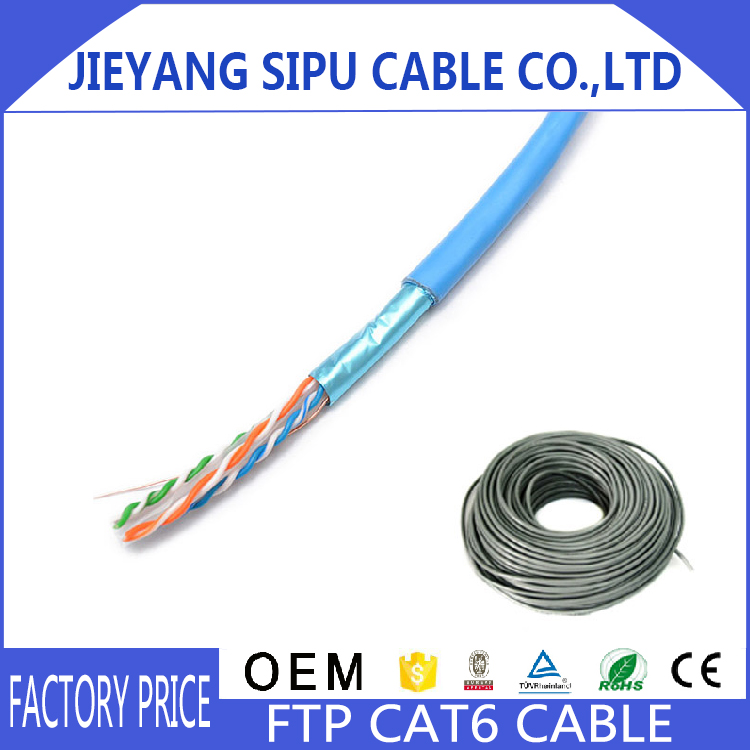 wholesale oem 305m 4 pairs ftp cat6 network cable