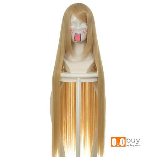 Chobits Axis Powers Hetalia Natalia Alovskaya Flaxen Yellow Long Straight Cosply Wig