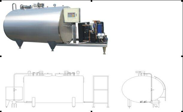50L-5000L Milk chilling machine for Raw milk farm