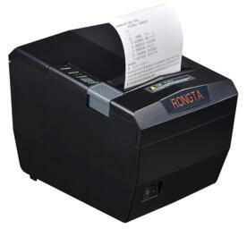 250mm/s POS receipt printer with auto cutter, thermal line printing
