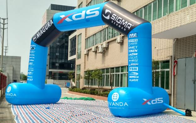 Inflatable Arch with LOGO printing air sealed or air continuous inflatable archway/arch door produce