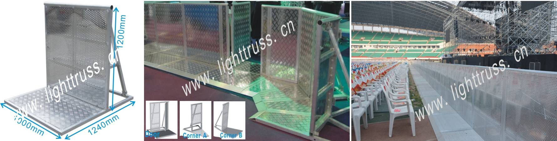 aluminium barricade / aluminium crowed / hand barrier