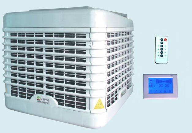 LCD control system Powerful  evaporated air cooler with the type SLSK-A18-A12