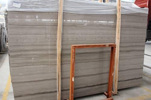 Chinese White Marble White Wood Vein