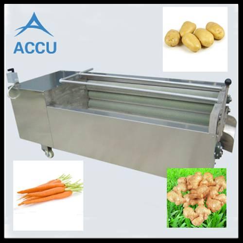 Brush vegetable cleaning machine