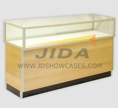 Aluminium Extrusion Frame Assembled Glass Showcase
