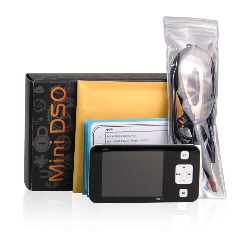 Portable Mini Nano DS211 Pocket-sized Handheld Digital Storage Oscilloscope 200KHz Bandwidth 1MSa/s