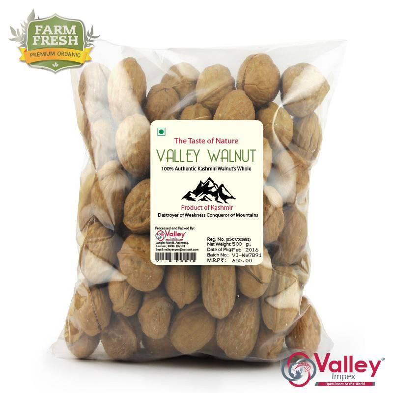 Walnut Shelled Organic Kashmiri Akhrot Premium Grade