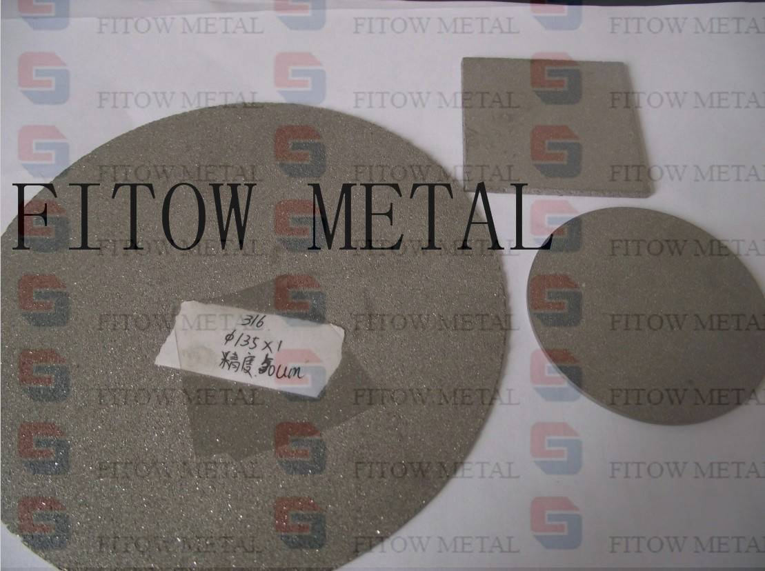 Porous stainless steel sintered plate