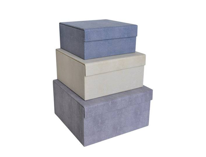 Lizard Leather Storage Boxes & Bins