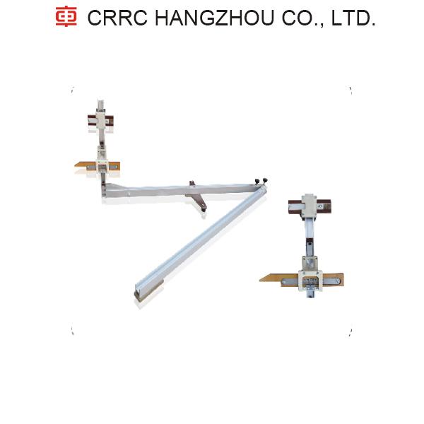 Contact rail detecting ruler CRRC