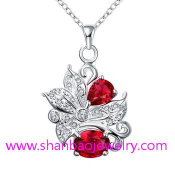 Silver Plating Costume Fashion Zircon Jewelry Woman Necklaces