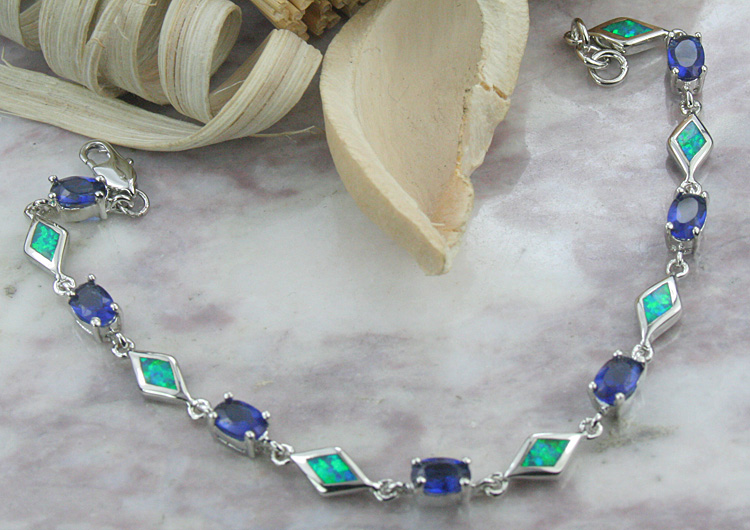 Silver Opal jewelry w/ other color gemstones
