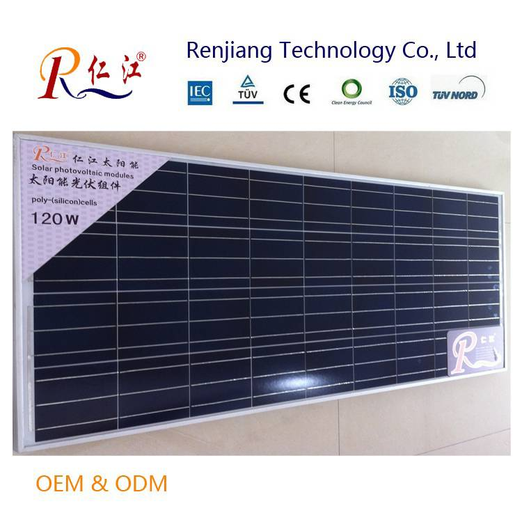Hot Sale 120w Solar Panel Price Per Watt Connect to PV Inverter for Chile Market