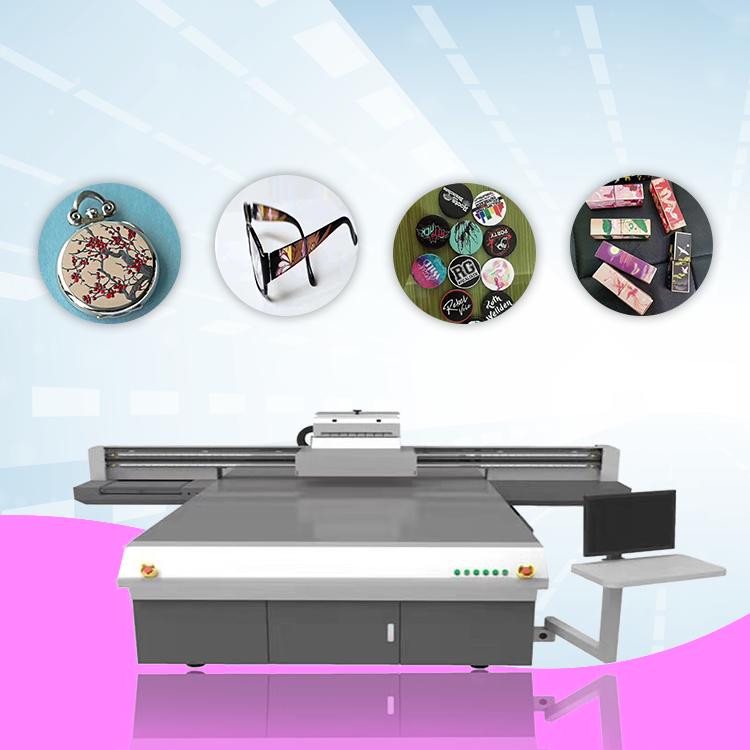 Share UV Printer 2513 Glass Slipper Wooden UV Flatbed Printer 3D UV Inkjet Printing Machine Leather