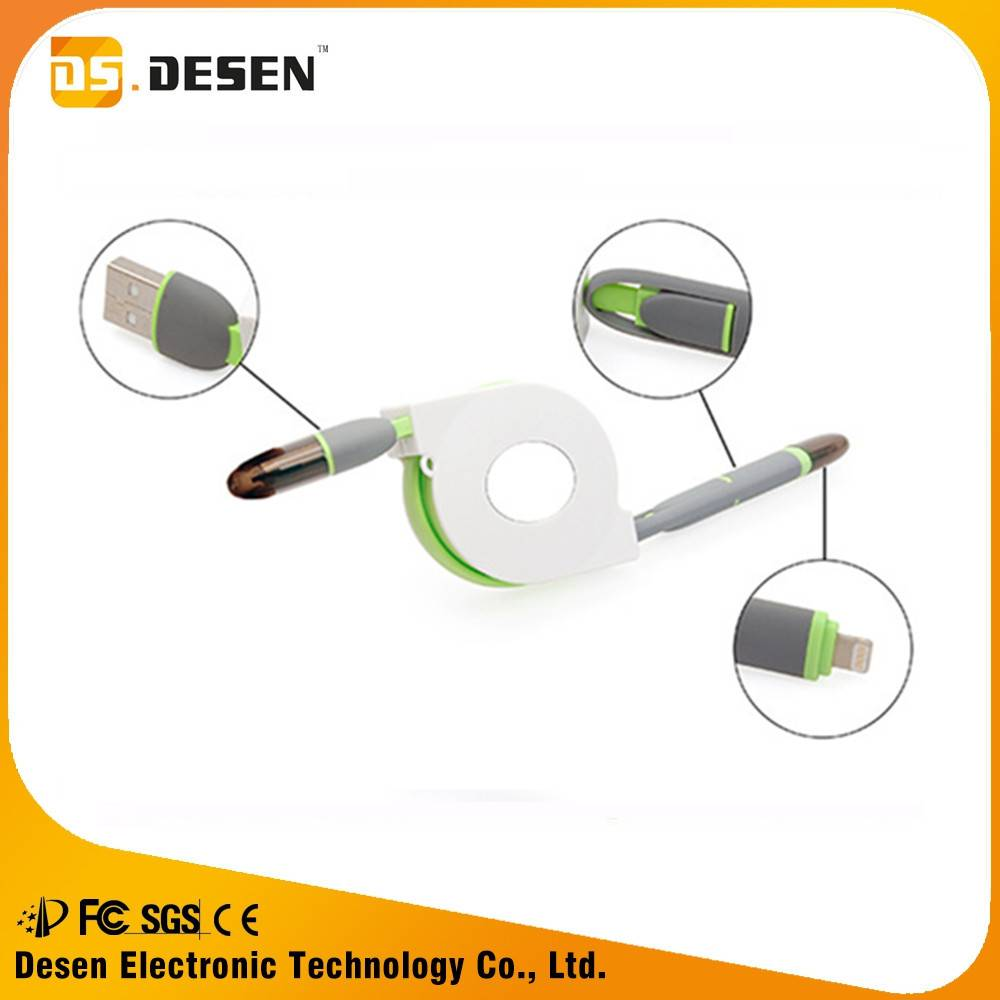 Wholesale double micro usb data cable