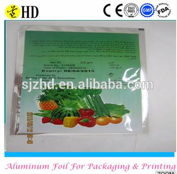 1 kg heat sealed agricuture vacuum aluminium foil bag