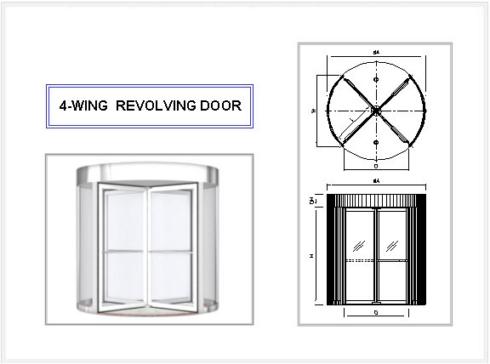 4-WING REVOLVING DOOR
