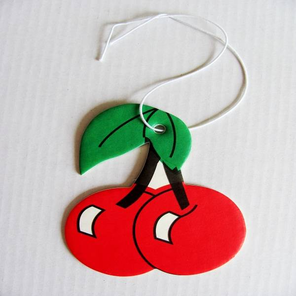 Cherry Fruit scented Paper Car Air Freshener,fruit shaped paper air fresheners