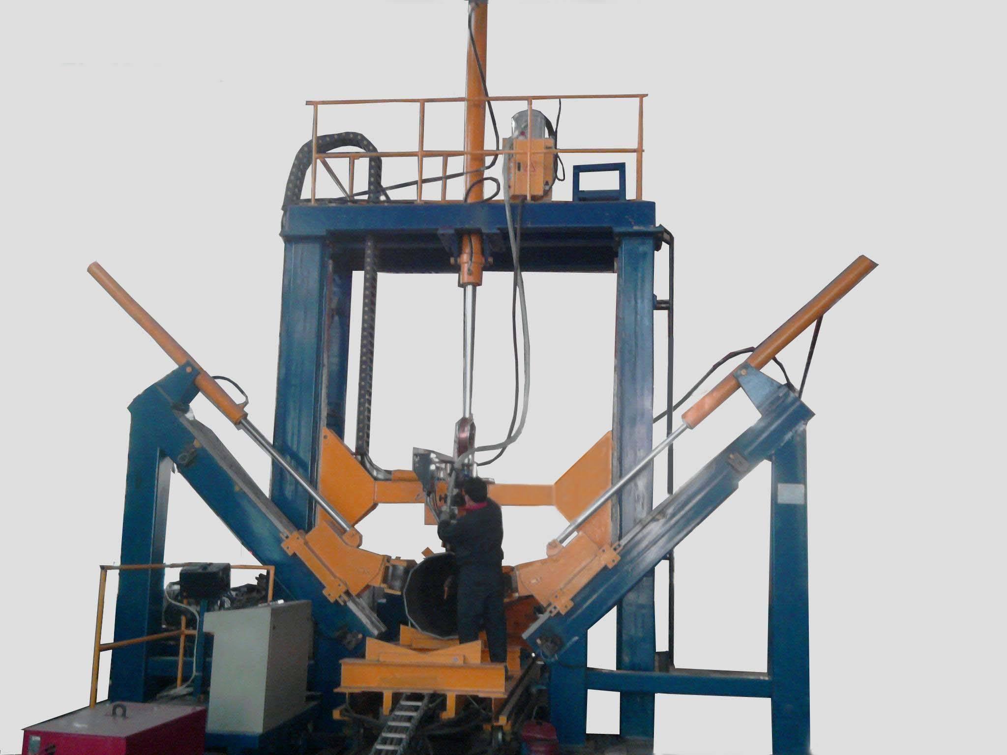 Pole welding machine