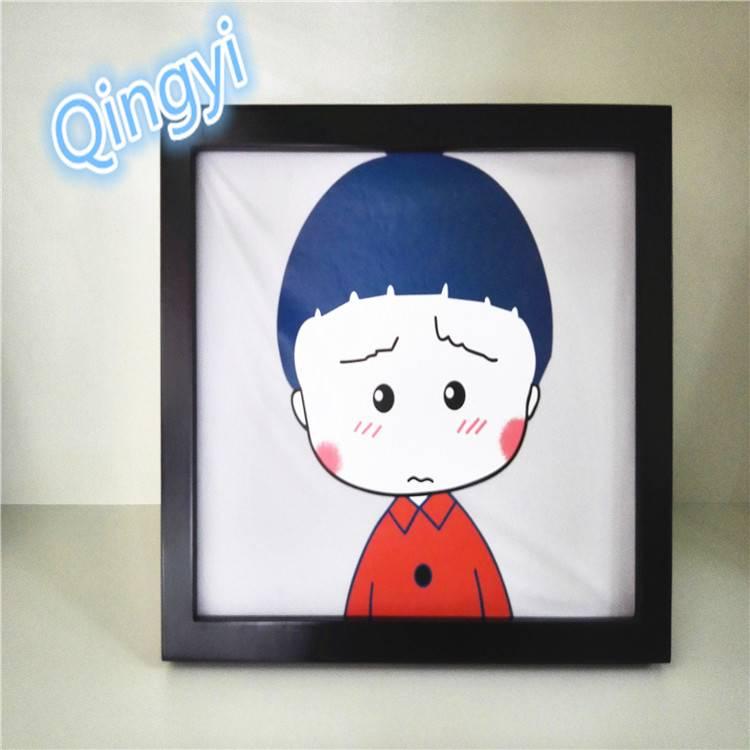Qingyi hot selling high-elastic/soft cartoon heat transfer sticker
