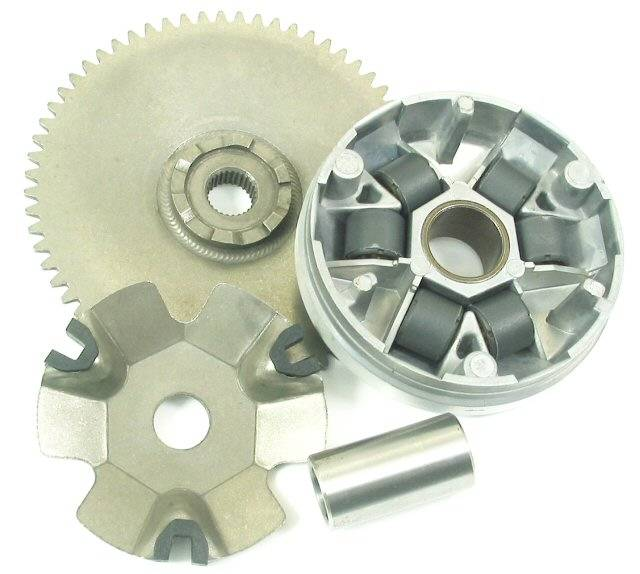 motorcycle variator and clutch assembly