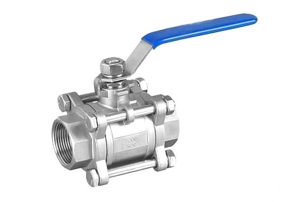 Three chip flanged ball valves