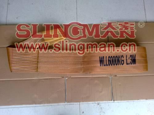High quality WLL6ton 6000kg Polyester webbing sling flat web sling band