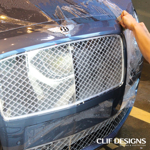 Clif Designs low-yellowing self healing car paint protection film self adhesive clear bra