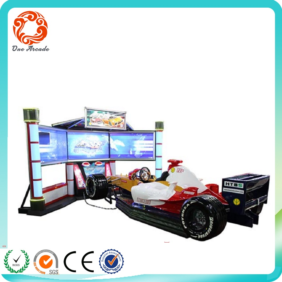 Newest 3 Screen professional design Racing Car VR game machine